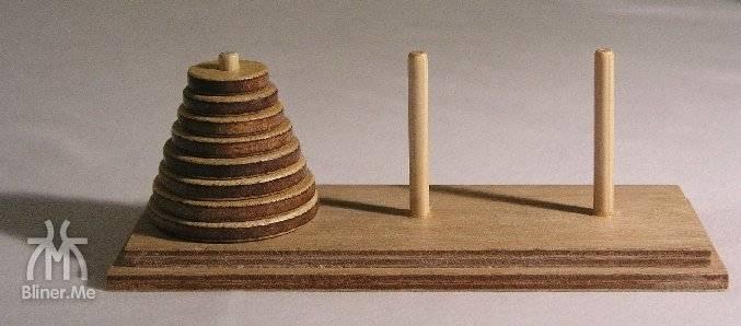 玩具汉诺塔-图片来自于维基百科
